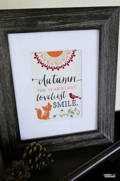15 Pretty Free Fall Printables- An easy and inexpensive way to decorate your home for fall is with these free fall printables! Thanksgiving printables and Halloween printables included!