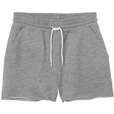 Monki Mallory shorts ($11) ❤ liked on Polyvore featuring shorts, bottoms, pants, short, grey cloud melange, grey shorts, monki, short shorts and gray shorts