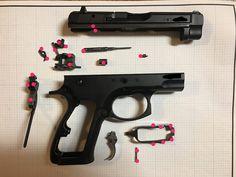 Custom Trigger Job: polishing the internals on a CZ75 or TriStar & installing Cajun Gun Works parts.