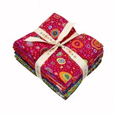 Kaffe Fassett Spots Fat Quarter from @fabricdotcom  Designed by Kaffe Fassett for Rowan, this assortment includes 15 fat quarters (18'' x 20/22'') from various Kaffe Fassett collections. Colors include pink, yellow, blue, purple, green, red, orange and brown.