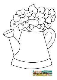Indirin Ve Yazdırın Saksıda çiçek Boyama Yazdırılabilir Boyama