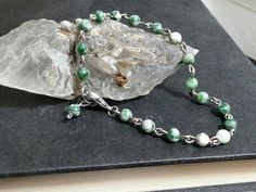 Check out this item in my Etsy shop https://www.etsy.com/listing/484233367/moss-agate-natural-stone-chain-link