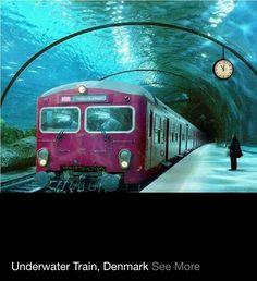 Underwater train #Denmark