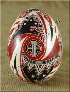 Ukrainian Easter Pysanka Hen Egg - Trypillia Style [rp2854] - $24.00 : Vyshyvanka Ukrainian Gifts