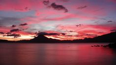 I have traveled the world and I have yet to find any place that can rival the sunsets that take place in Lake Atitlan, Guatemala.  The colors of the eye catching sunsets not only vary from month to month, they also vary from week to week and night to night.