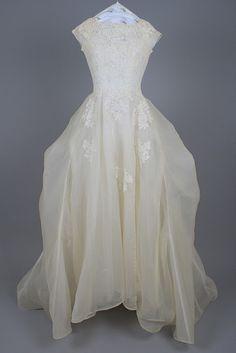 Vintage wedding gown restored