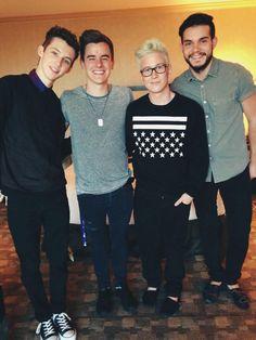 these boys mean a lot to me  (@troyesivan @koreykuhl @connorfranta at #vidcon)