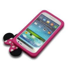 Amazon.com: Disney Minnie Mouse Hide and Seek Silicone Case for Samsung Galaxy S3 i9300-Hot Pink: Cell Phones & Accessories