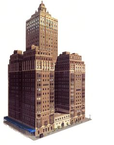 "the art of kevin nelson: a few new york buildings i did for ""Bolt"""