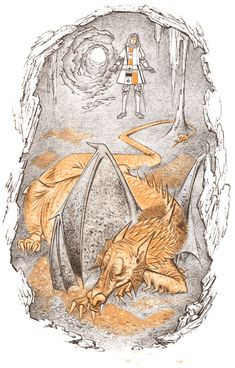 Illustration by Pauline Baynes for a 1961 edition of 'The Hobbit' by J.R.R Tolkein