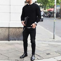 Outfit Formula You'll Be Seeing A Lot This #Fall. . . #mensfashionpost #mensfashion #streetstyle #dapperlydone