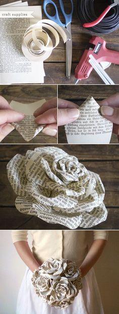 Story Book Paper Roses