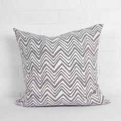 Hand Block Print Zig Zag Cushions