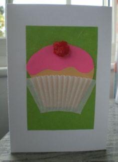 how make a cupcake birthday card