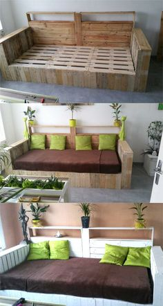 12 Easy Pallet Sofas and Coffee Tables to DIY in One Afternoon - Page 2 of 2 - A Piece Of Rainbow