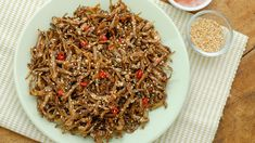 Dried fish gets the spicy and sweet treatment, and it's delicious and addicting.