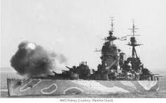 Rodney and King George V sighted Bismarck around yards away and began firing around yards. After the German's forward A and B turretss were silenced, Rodney moved in until her guns were essentially firing horizontally. Mystery Of History, Island Nations, Navy Ships, Royal Navy, Battleship, British, Military, Fire, World