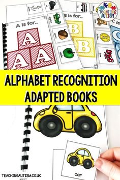 Are You Looking For Engaging And Hands-On Alphabet Recognition Activities To Use With Your Special Education Students? Provided that this is true, These Alphabet Adapted Books Are Perfect For Your Literacy Centers. Speech Therapy Activities, Hands On Activities, Classroom Activities, Preschool Kindergarten, Literacy Stations, Literacy Centers, Special Education Classroom, Autism Classroom, Self Contained Classroom