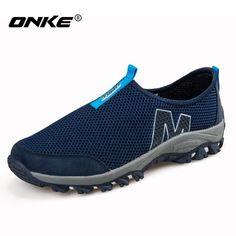 huge selection of 3e54a d0445 2017 Summer Men Shoes Running shoes for Men Breathable Mesh Women Sneakers  Slip-on Sport