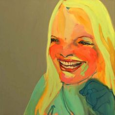 Abbey McCulloch - i dont know what it is about Abbey's paintings that draw me into them. This one particularly strikes a chord with me, her smile is so genuine.