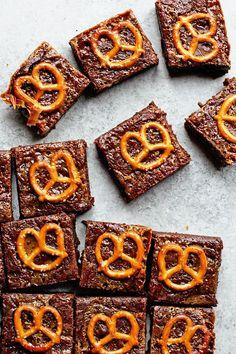 Caramel Pretzel Brownies Recipe   Grandbaby Cakes