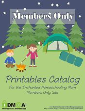 Enchanted Homeschooling Mom Members Only Website ~ Where educational fun and learning come together in one place. Become a member for a one time lifetime fee of only $15.00 for access to everything I created in the past, present, and future. {Currently home to over 260+ printable curriculum's, unit studies, activity packs, and more! Adding more all the time ... }