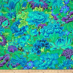 Kaffe Fasset Lavinia Green from @fabricdotcom  Designed by Philip Jacobs for Westminster Fabrics, this cotton print is perfect for quilting and  craft projects as well as apparel and home décor accents. Colors include green, blue, jade, lilac and leaf green.