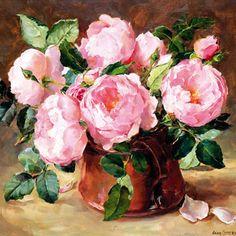 Anglais carte d'anniversaire par Anne Cotterill Roses