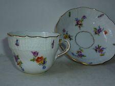 Tasse et sous tasse en porcelaine de Meissen Saxe