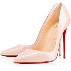 Christian Louboutin So Kate ($675) ❤ liked on Polyvore featuring shoes, pumps, heels, louboutin, christian louboutin, ballerina, pointed-toe pumps, sexy stilettos, patent leather pumps and sexy high heel pumps