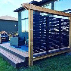 Laser cut privacy screens, sun shades, and interior/exterior design panels. Our high quality aluminium privacy screens come in a number of unique designs, to enhance your outdoor and indoor living space. Backyard Patio Designs, Diy Patio, Backyard Landscaping, Hot Tub Privacy, Privacy Screen Outdoor, Deck Privacy Screens, Privacy Fences, Outdoor Rooms, Outdoor Living