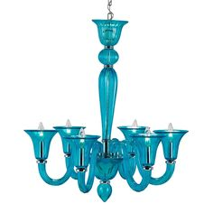 currey & co gusting blue chandelier