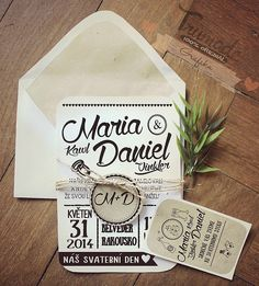 Grafika - Prírodné svadobné oznámenia - 5322282_