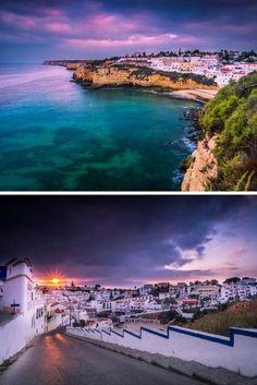 Beautiful small town of Carvoeiro on the Portuguese coast.
