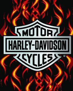 Deals Harley Davidson Jumbo Chrome Flame Classic Beach Towel | I Love Harley Bikes