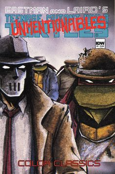 """Teenage Mutant Ninja Turtles Color Classics Vol. 2 #2  Kevin Eastman(w & a & c)  """"The Unmentionables."""" On the snowy streets of Northampton, a bored Casey Jones has gone from vigilante to old-school gumshoe, prowling the quiet streets looking for a case. He gets his wish in the form of a stolen golden cow, a kidnapped April O'Neil, and Slovakian mobsters! Can the Turtles bail him out of this misadventure of bovine proportions?  FC • 38 pages • $3.99"""