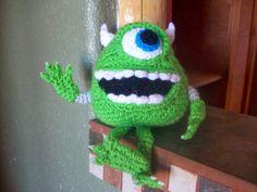 Amigurumi Monsters Inc : Amigurumi boo 👧🏽 from monsters inc crochet pencil topper