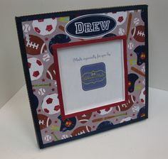 Sports theme Square Frame by RibbonMade on Etsy