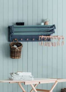 Nifty Wall Storage Ideas for Small Space Living - the laundry room Small Storage, Diy Storage, Storage Spaces, Storage Ideas, Organization Ideas, Storage Shelves, Storage Solutions, Laundry Room Organization, Laundry Room Design