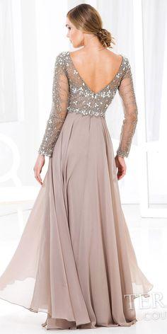 Hug Shoulder Evening Dress by Terani Couture