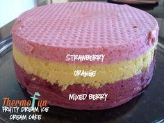 ThermoFun - Layered Fruity Dream Ice Cream Cake Recipe