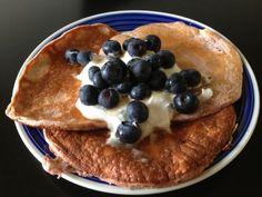 Protein Powder Pancakes: Single-Serve Strawberry Banana Recipe via @SparkPeople