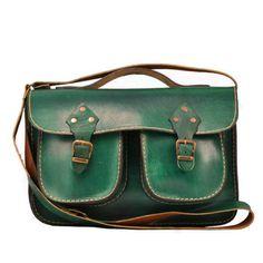 Handmade ,Green Leather ,Messenger Bag ,Tote Bag ,ipad Bag ,for men ,crossbody…