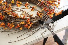 Fall decorating tips : using greenery and wreaths in unexpected ways | Magnolia Homes