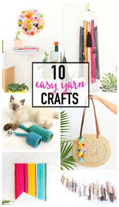 10 Easy and Colorful Yarn Crafts