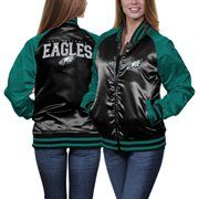 Antigua Philadelphia Eagles Ladies Blast Lace-Up T-Shirt - Gray ...
