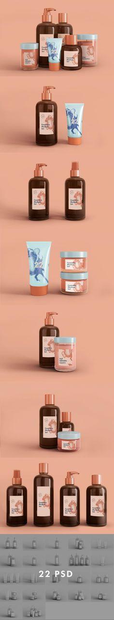 Cosmetics mock-up set 22 psd files #stamp #scissors #MockupTemplates #scenecreator #mockup #moodboard #pack #generator #mockup #packaging #colorpalette #branding #psd #website #designelements #mockups #psd #leaf #template Mood Board Creator, Scene Creator, Mockup Templates, Swatch, Tube, Sweatshirt, Concept, Cosmetics, Gold