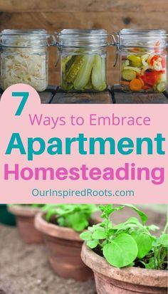 Want to try apartment homesteading? It& a great way to build skills while you wait for a perfect piece of land. Here are some ways to fully embrace it! Homestead Farm, Homestead Survival, Survival Prepping, Survival Skills, Modern Homesteading, Backyard Farming, Backyard Chickens, Diy Apartment Decor, Small Space Gardening