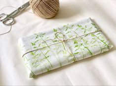 Handmade grass pattern tissue paper. Available in our Etsy shop.