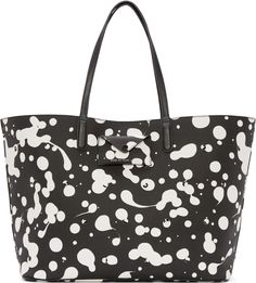 Marc by Marc Jacobs - Black Oil Drop Studded Tote Structured Bag, Black And White Love, Studded Purse, Black Oil, Jacob Black, Marc Jacobs Bag, Printed Bags, Black Tote Bag, Black Purses